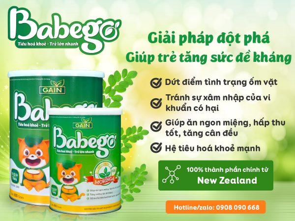 Sữa Babego tăng cường miễn dịch, bé ít ốm vặt đúng không?