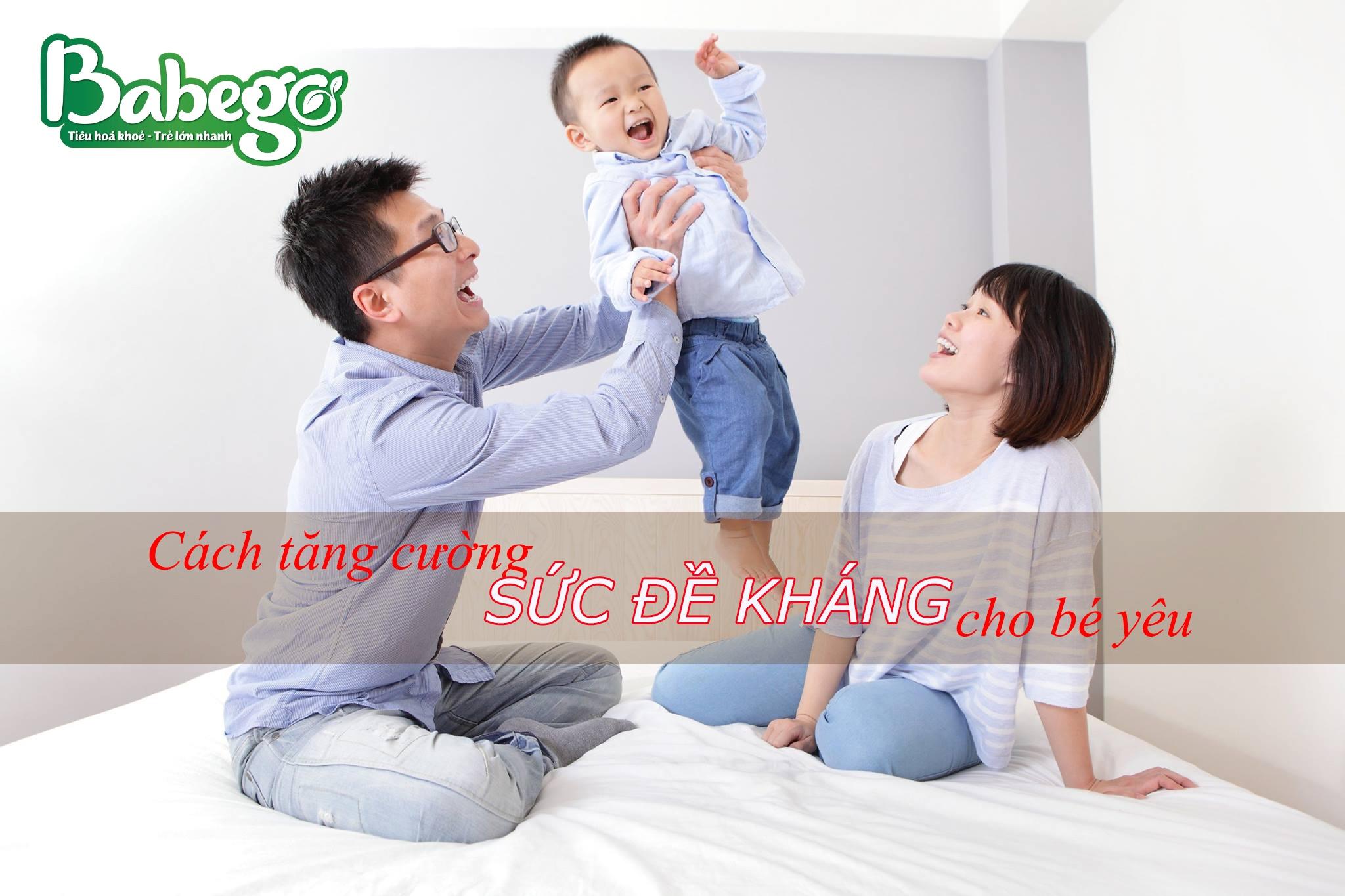 Cách tăng cường đề kháng cho trẻ