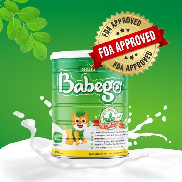 Sữa thảo dược chùm ngây Babego 0-12M 800g