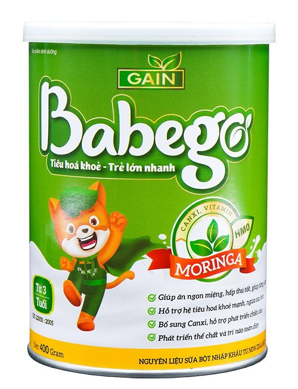Sữa thảo dược chùm ngây Babego trên 3T 400g